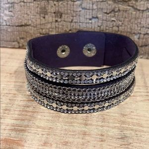 Dark purple wrap bracelet